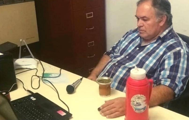 Videconferencia con el gobernador Sergio Ziliotto